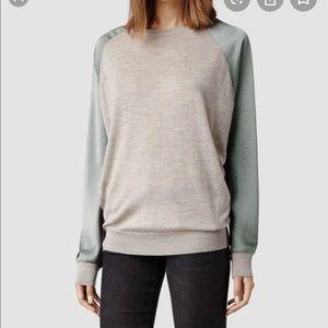 AllSaints Gray Agi Knit Sweater US Sz0 UK4